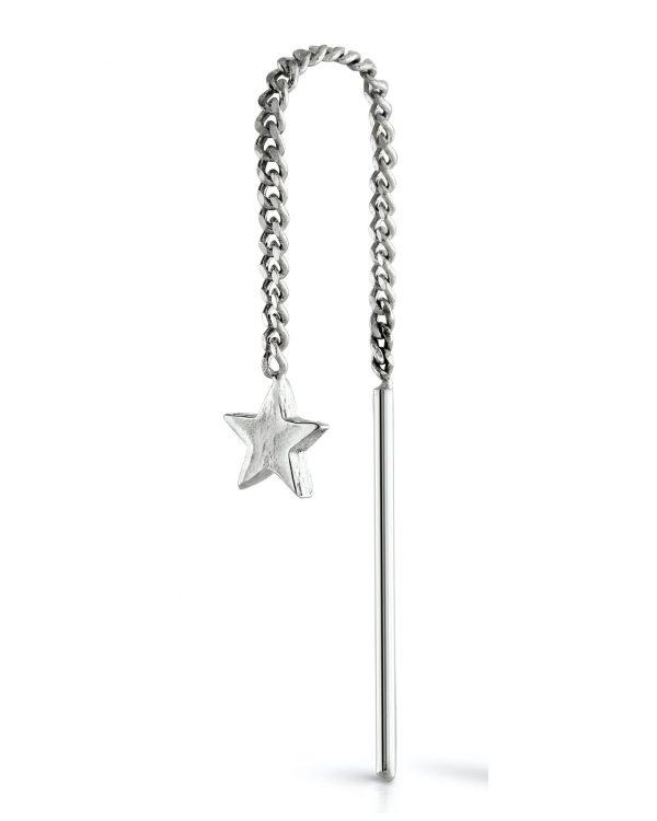 Star-threader-earring-silver-single-louise-wade