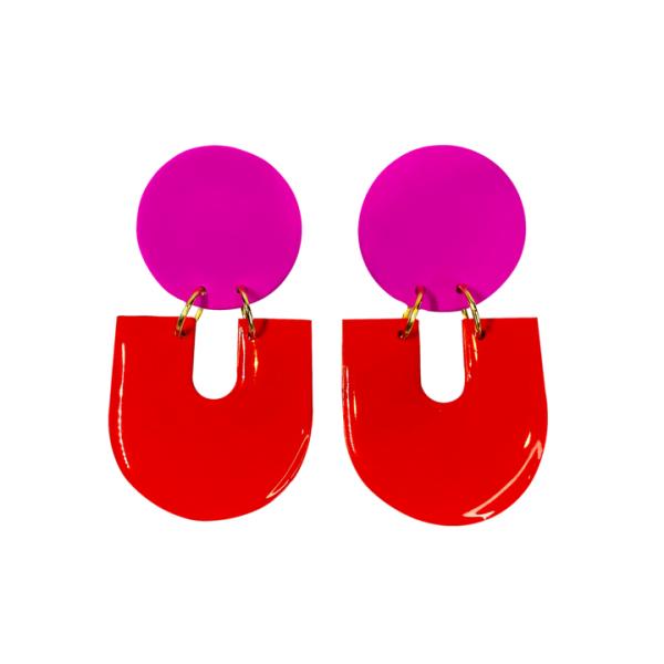 studio-eris-OREAD-earrings-fucshia-apple