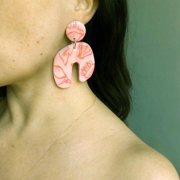 studio-eris-hera-earrings-positano-rose-orange