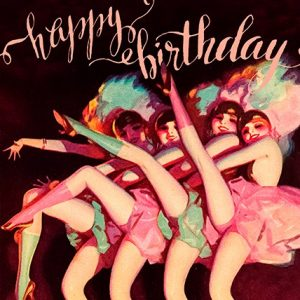Can Can Dancers Birthday Card