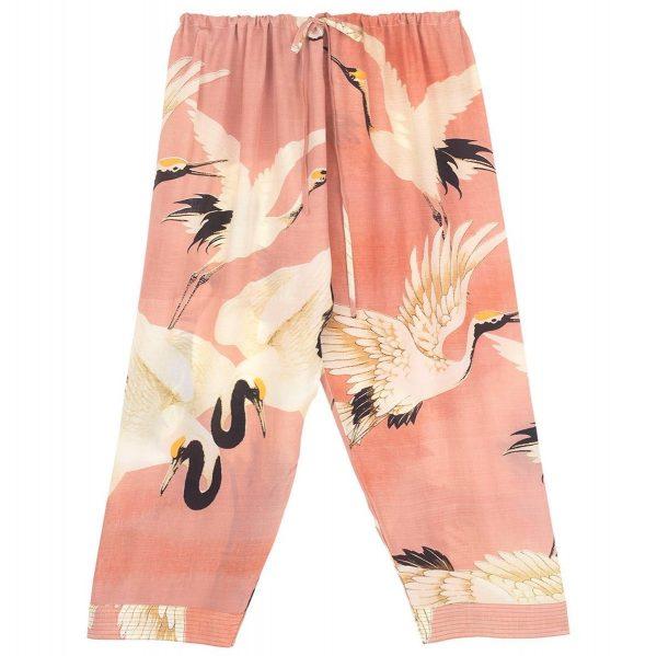 one-hundred-stars-oriental-stork-lounge-pants-pink