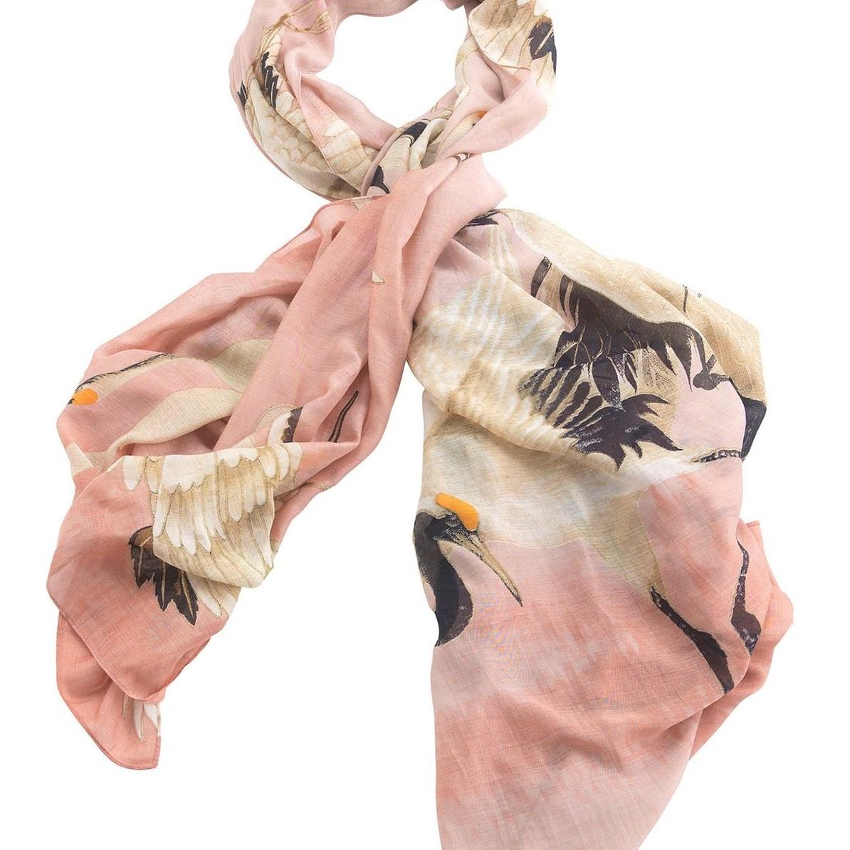 one-hundred-stars-oriental-stork-scarf-pink