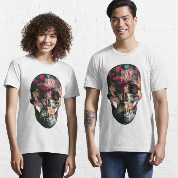 evil-left-hand-floral-skull-tshirt-red-white