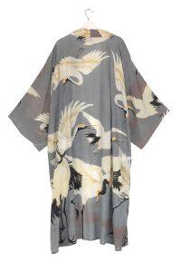 one-hundred-stars-oriental-stork-long-kimono-slate-grey