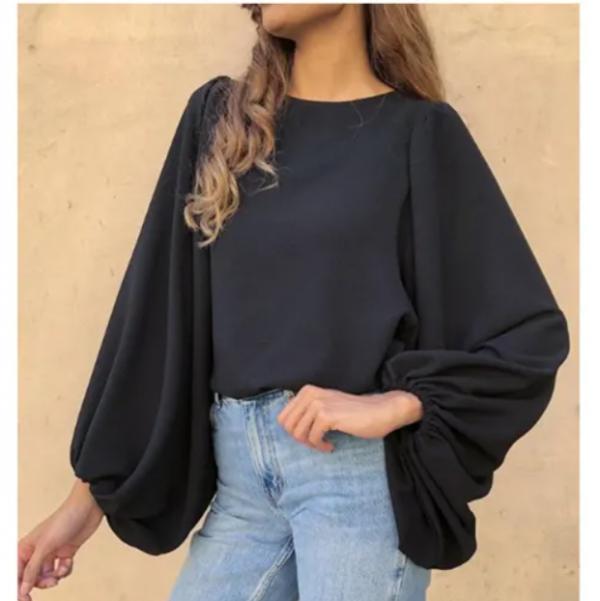 Meem-label-raven-top-black