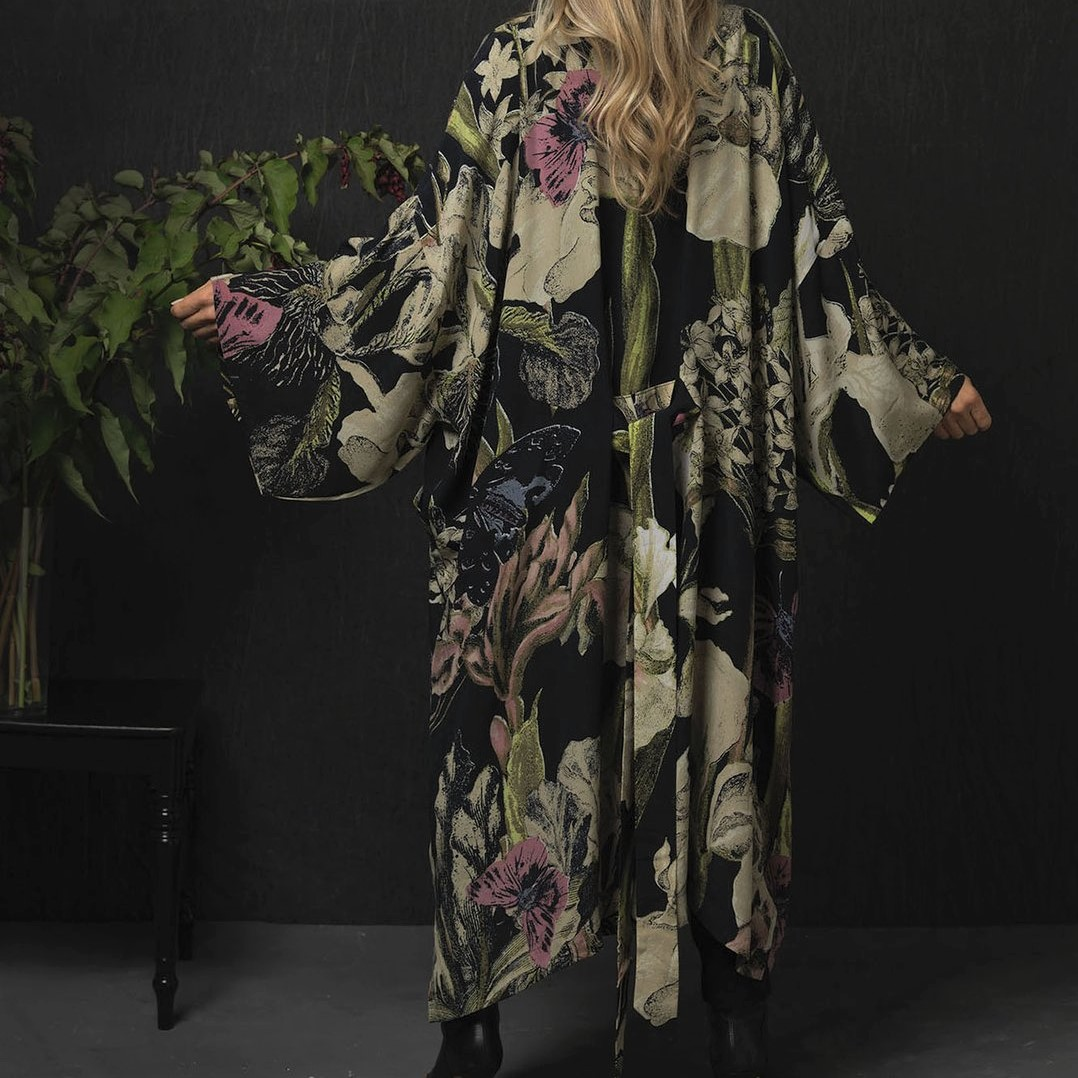 one-hundred-stars-iris-black-long-kimono-luxe-crepe
